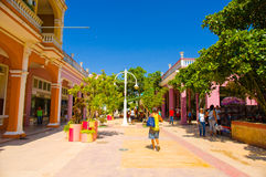 CIEGO DE AVILA, CUBA - 5 DE SETEMBRO DE 2015: Do centro Fotos de Stock Royalty Free