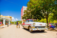 CIEGO DE AVILA, CUBA - SEPTEMBER 5, 2015: De stad in Stock Foto
