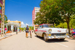 CIEGO DE AVILA, CUBA - SEPTEMBER 5, 2015: De stad in Stock Afbeelding