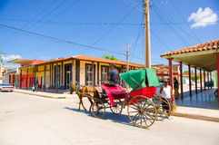 CIEGO DE AVILA, CUBA - SEPTEMBER 5, 2015: Downtown Stock Images