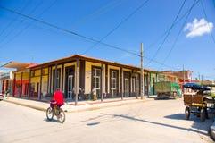 CIEGO DE AVILA, CUBA - SEPTEMBER 5, 2015: Downtown Stock Image