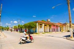CIEGO DE AVILA, CUBA - SEPTEMBER 5, 2015: Downtown Stock Photos
