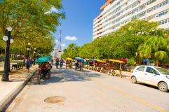 CIEGO DE AVILA, CUBA - SEPTEMBER 5, 2015: Downtown Royalty Free Stock Photos