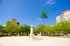 CIEGO DE AVILA, CUBA - SEPTEMBER 5, 2015: Downtown Royalty Free Stock Image