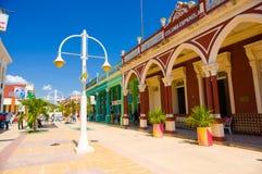 CIEGO DE AVILA, CUBA - SEPTEMBER 5, 2015: Downtown Royalty Free Stock Images