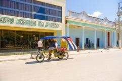 CIEGO DE AVILA, KUBA - 5. SEPTEMBER 2015: Im Stadtzentrum gelegen Lizenzfreie Stockfotografie