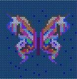 Ściegu etniczny motyl Fotografia Stock