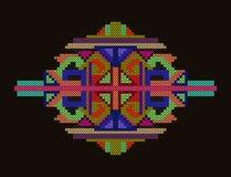 Ściegu etniczny ornament Zdjęcie Stock