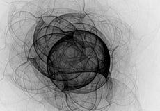 Ciekłego atramentu czarny i biały abstrakcjonistyczny tło Obraz Royalty Free