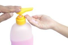 Ciekłego mydła pompy aptekarka odizolowywająca Obraz Royalty Free