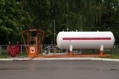 Ciekłego propanu benzynowa stacja LPG stacja dla wypełniać upłynniających dziąsła Zdjęcie Royalty Free