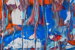 Ciekły akrylowej farby tło Rzadkopłynna obrazu abstrakta tekstura ilustracji