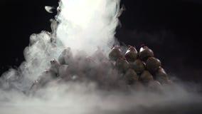 Ciekły azot odkrywa truskawki w czekoladzie zbiory wideo