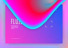 Ciekły fluid z dynamicznymi elementami i kształtami r ilustracji