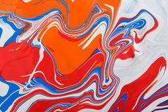 Ciekły marmoryzaci akrylowej farby tło Rzadkopłynna obrazu abstrakta tekstura Obrazy Royalty Free