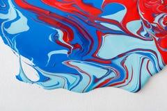 Ciekły marmoryzaci akrylowej farby tło Rzadkopłynna obrazu abstrakta tekstura royalty ilustracja