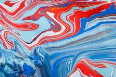 Ciekły marmoryzaci akrylowej farby tło Rzadkopłynna obrazu abstrakta tekstura ilustracja wektor