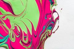 Ciekły marmoryzaci akrylowej farby tło Rzadkopłynny obrazu abstrac royalty ilustracja