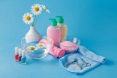 Ciekły mydło, Aromatyczna Kąpielowa sól I Inny Toiletry, Fotografia Royalty Free