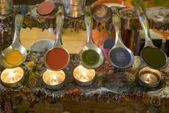Ciekły wosk barwi dla produkci, Siena, Tuscany & x28 świeczki; Italy& x29; Zdjęcia Royalty Free