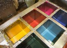 Ciekły wosk barwi dla produkci, Siena, Tuscany & x28 świeczki; Italy& x29; Obrazy Stock