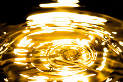 Ciekły złocisty metalu abstrakt Obrazy Royalty Free