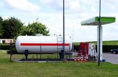 Ciekłego propanu benzynowa stacja Zdjęcia Stock