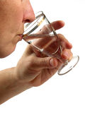 ciekła napój osoba Fotografia Stock