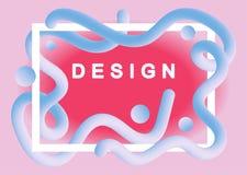 Ciek?y koloru t?a projekt Modni rzadkopłynni gradientów kształty Futurystyczni projekt?w plakaty Eps10 Wektor royalty ilustracja