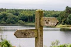Ścieżka znak Fotografia Royalty Free