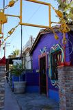 Ciekawa architektura budynki w Puerto Penasco, Meksyk Zdjęcie Stock