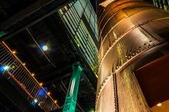 Ciekawa architektura w elektrowni, Baltimore, Maryland. Zdjęcia Stock