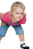 Ciekawa mała dziewczyna Zdjęcia Stock