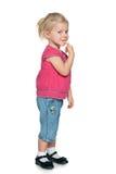 Ciekawa mała dziewczynka Obraz Royalty Free