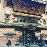 Ciekawa miejsce świątynia w Kathmandu Nepal obrazy royalty free