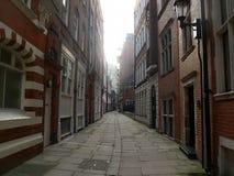 Ciekawa ulica w Londyn, pięknym Zdjęcie Stock