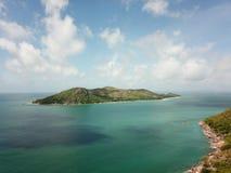 Ciekawa wyspa od powietrza fotografia stock