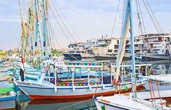 Ciekawe łodzie Zdjęcia Stock