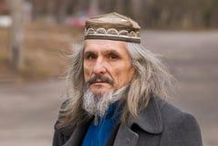 ciekawy mężczyzna portreta senior Fotografia Stock