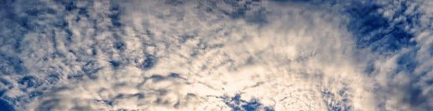 Ciekawy niebo z chmurami 230 Fotografia Stock