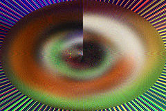 Ciekawy unikalny abstrakcjonistyczny stubarwny tło Zdjęcie Royalty Free