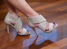 cieki butów kobieta Zdjęcia Stock