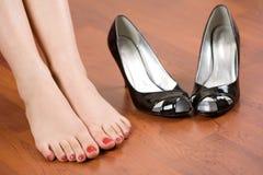 cieki butów kobieta Obraz Royalty Free