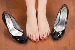 cieki butów kobieta Zdjęcia Royalty Free