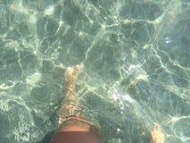 Cieki i nogi pod wodą Fotografia Stock