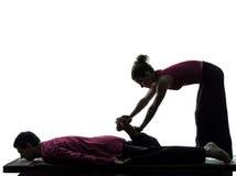 Cieki nóg tajlandzkiej masażu sylwetki obraz royalty free