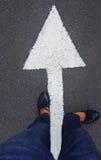 Cieki na asfalt drodze Zdjęcia Stock