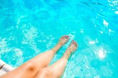 Cieki Przy Pływackim basenem Zdjęcia Royalty Free