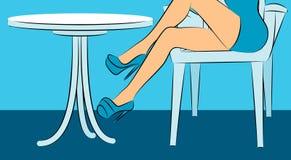 cieki restauracyjnych butów Fotografia Stock