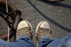 cieki sneakers Zdjęcia Royalty Free